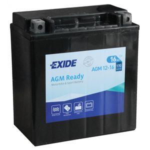 AGM12-16 Exide Batterie De Moto 12V (4920)