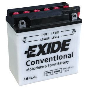 Exide EB9L-B 12V Conventional Motorcycle Battery