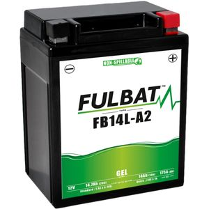 FB14L-A2 GEL Fulbat Motorcycle Battery YB14L-A2