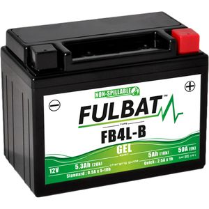 FB4L-B GEL Fulbat Motorcycle Battery YB4L-B