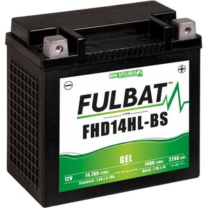 FHD14HL-BS GEL Fulbat Motorcycle Battery YHD14HL-BS