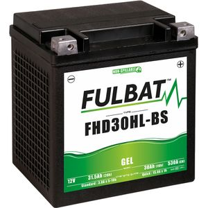 FHD30HL-BS GEL Fulbat Motorcycle Battery YHD30HL-BS