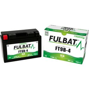 FT9B-4 AGM Fulbat Motorcycle Battery YT9B-4