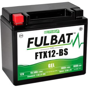 FTX12-BS GEL Fulbat Motorcycle Battery YTX12-BS