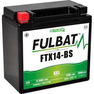 FTX14-BS GEL Fulbat Motorcycle Battery