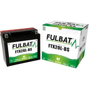 FTX20L-BS MF Fulbat Motorcycle Battery YTX20L-BS