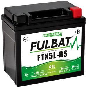 FTX5L-BS GEL Fulbat Motorcycle Battery YTX5L-BS