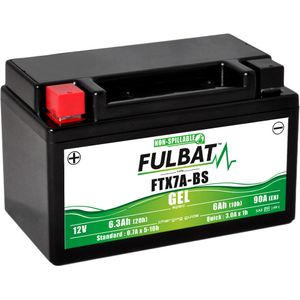 FTX7A-BS GEL Fulbat Motorcycle Battery YTX7A-BS