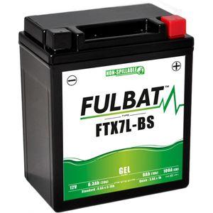 FTX7L-BS GEL Fulbat Motorcycle Battery YTX7L-BS