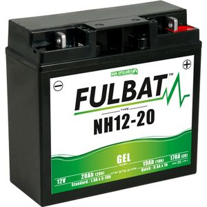 NH12-20 GEL Fulbat Motorcycle Battery 51913