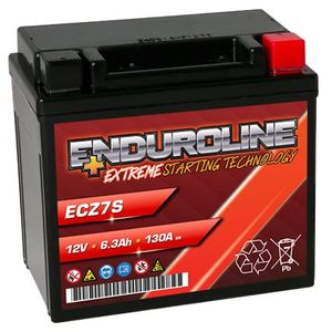 Enduroline ECZ7S AGM Motorcycle Battery 6.3Ah