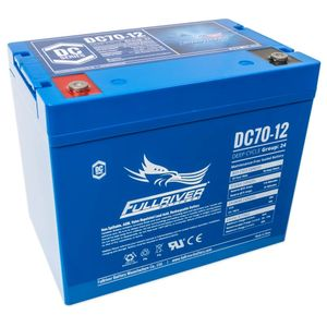 DC70-12 FullRiver DC Series Deep Cycle AGM Leisure Battery 70Ah