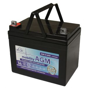 Leoch AGM 34 Mobility Battery 12V 34Ah