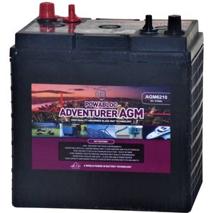 Leoch AGM-6210 Deep Cycle Monobloc Battery 6V T105-AGM