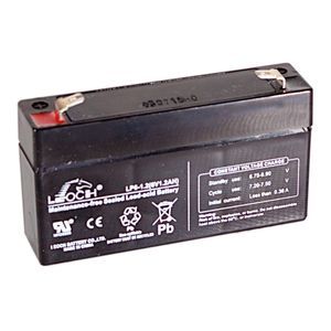 Leoch LP6-1.2 6V 1.2Ah Sealed Battery