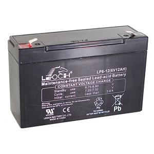 Leoch LP6-12 6V 12Ah Sealed Battery