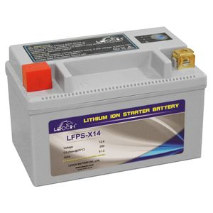 LFPS-X14 Leoch Powerstart Lithium Motorcycle Battery YTX14 YTZ14S