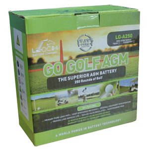 Leoch LG-A250 Torberry Supreme AGM Golf Battery 12V 22Ah