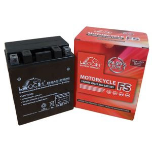 YB14L-A2 Leoch Powerstart AGM Motorcycle Battery EB14A-3