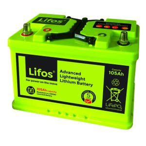 LiFOS 105 Lithium Leisure Battery Advanced Lightweight 105Ah LB0105