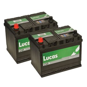 Pair of 069 Lucas Premium Car Batteries 12V 68Ah