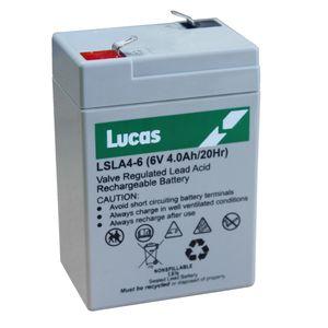 LSLA4-6 Lucas SLA Battery 6V 4Ah