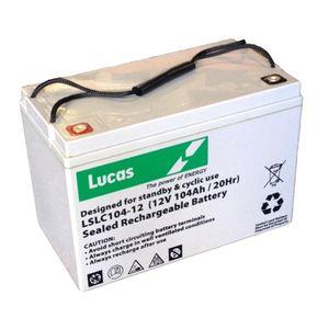 LSLC104-12 Lucas Numax AGM Battery 12V 104Ah (SLC104-12)