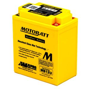 MB12U MOTOBATT Quadflex AGM Bike Battery 12V 15Ah