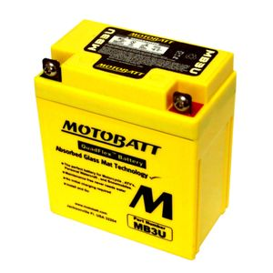 MB3U MOTOBATT Quadflex AGM Bike Battery 12V 3.8Ah