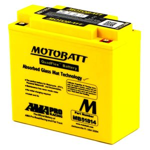 MB51814 MOTOBATT Quadflex AGM Bike Battery 12V 22Ah