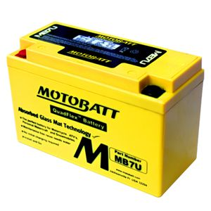 MB7U MOTOBATT Quadflex AGM Bike Battery 12V 6.5Ah