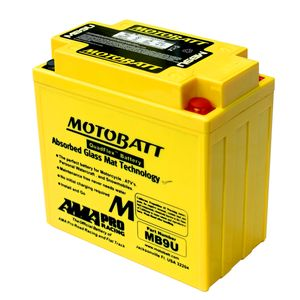 MB9U MOTOBATT Quadflex AGM Bike Battery 12V 11Ah