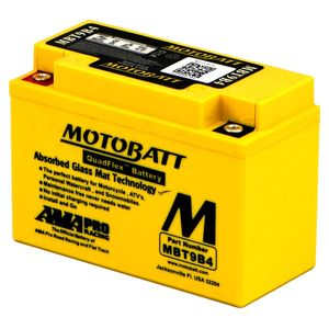 MBT9B4 MOTOBATT Quadflex AGM Bike Battery 12V 9Ah