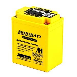 MBTX14AU MOTOBATT Quadflex AGM Bike Battery 12V 16Ah
