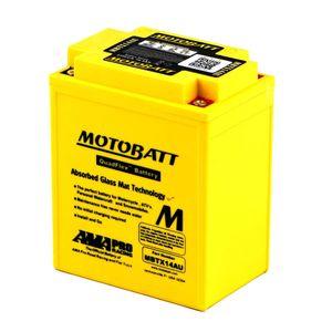 MBTX14AU MOTOBATT Quadflex AGM Batterie Moto 12V 16Ah
