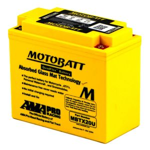 MBTX20U MOTOBATT Quadflex AGM Bike Battery 12V 21Ah
