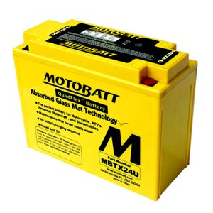 MBTX24U MOTOBATT Quadflex AGM Bike Battery 12V 25Ah