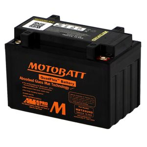 MBTX9UHD Black MOTOBATT Quadflex AGM Bike Battery 12V 10Ah