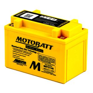MBTZ14S MOTOBATT Quadflex AGM Bike Battery 12V 11Ah
