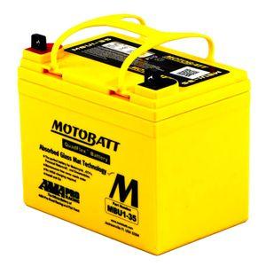 MBU1-35 MOTOBATT Quadflex AGM Batterie Moto 12V 35Ah