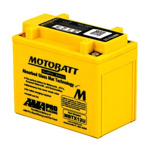 MBTX12U MOTOBATT Quadflex AGM Bike Battery 12V 14Ah