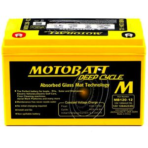 MB130-12 MOTOBATT AGM Deep Cycle Leisure Battery 12V 128Ah