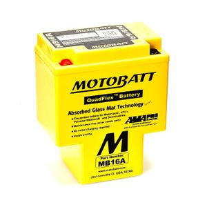 MB16A MOTOBATT Quadflex AGM Bike Battery 12V 19Ah