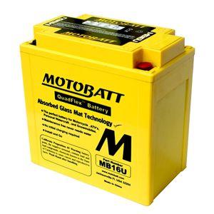 MB16U MOTOBATT Quadflex AGM Batterie Moto 12V 20Ah