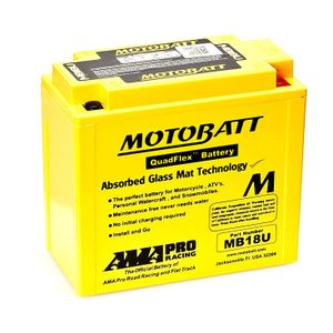 MB18U MOTOBATT Quadflex AGM Bike Battery 12V 22.5Ah