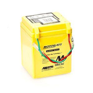 MB2.5U MOTOBATT Quadflex AGM Bike Battery 12V 2.5Ah