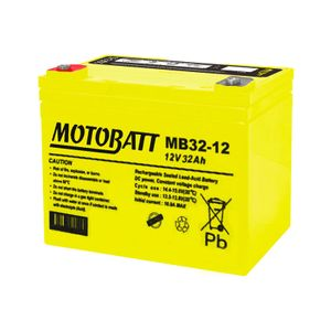 MB32-12 MOTOBATT AGM Mobility Battery 12V 32Ah