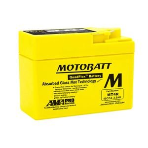 MT4R MOTOBATT Quadflex AGM Bike Battery 12V 2.5Ah