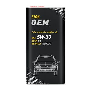 Mannol 7706 OEM 5W-30 Engine Oil 5L