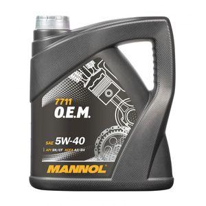 Mannol 7711 OEM 5W-40 Engine Oil 4L